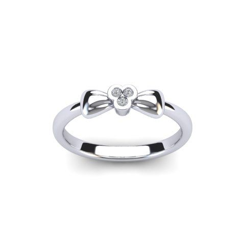 Heirloom diamond bow ring